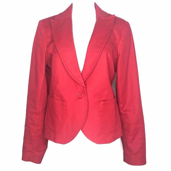 Kenar Jackets & Blazers - Kenar Red Single Button Blazer A020678